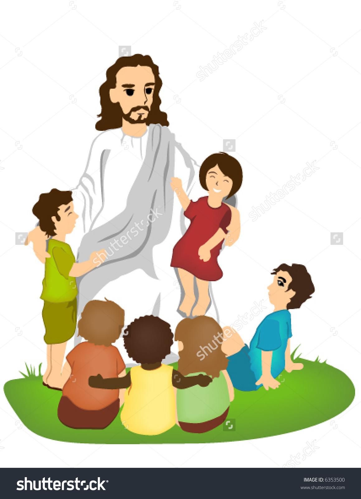 jesus children clipart.