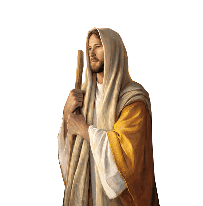 Jesus Sideview Looking transparent PNG.