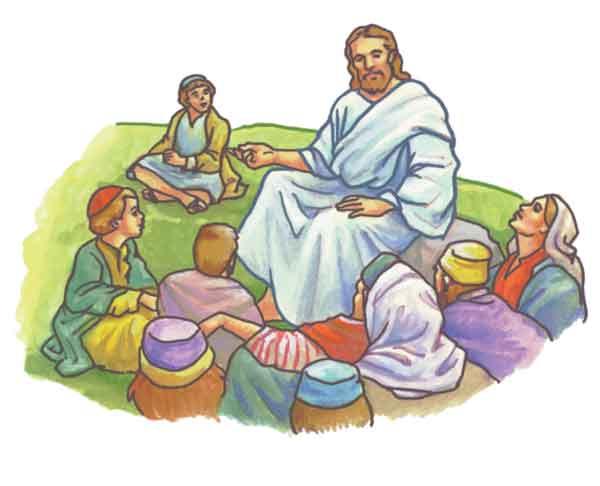 Jesus Preaching Clipart.