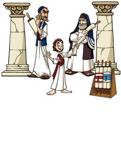 Free visuals: Boy Jesus at the Temple Mary and Joseph return to.