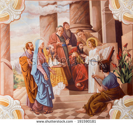 Jesus Preaching In The Temple Clipart Clipground