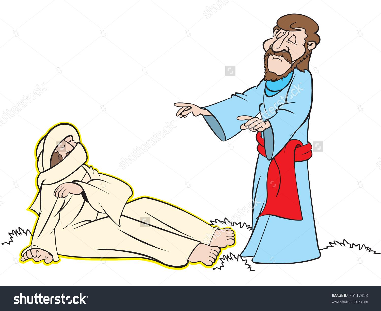 Jesus Raises Lazarus From The Dead Clipart.