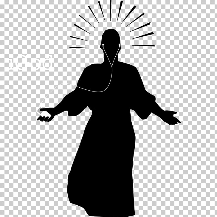 Silhouette Resurrection of Jesus Christianity Icon, God PNG.