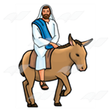 Jesus Riding Donkey Png & Free Jesus Riding Donkey.png Transparent.