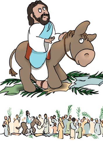 King Jesus Rides a Donkey (cartoon).