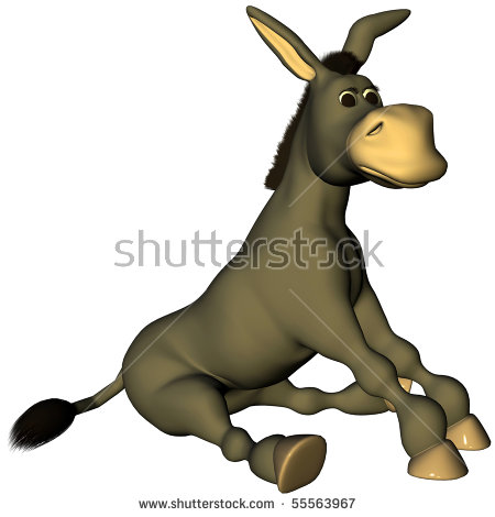 Sitting Donkey Stock Images, Royalty.