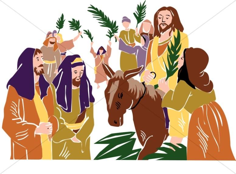 Christ Rides into Jerusalem.