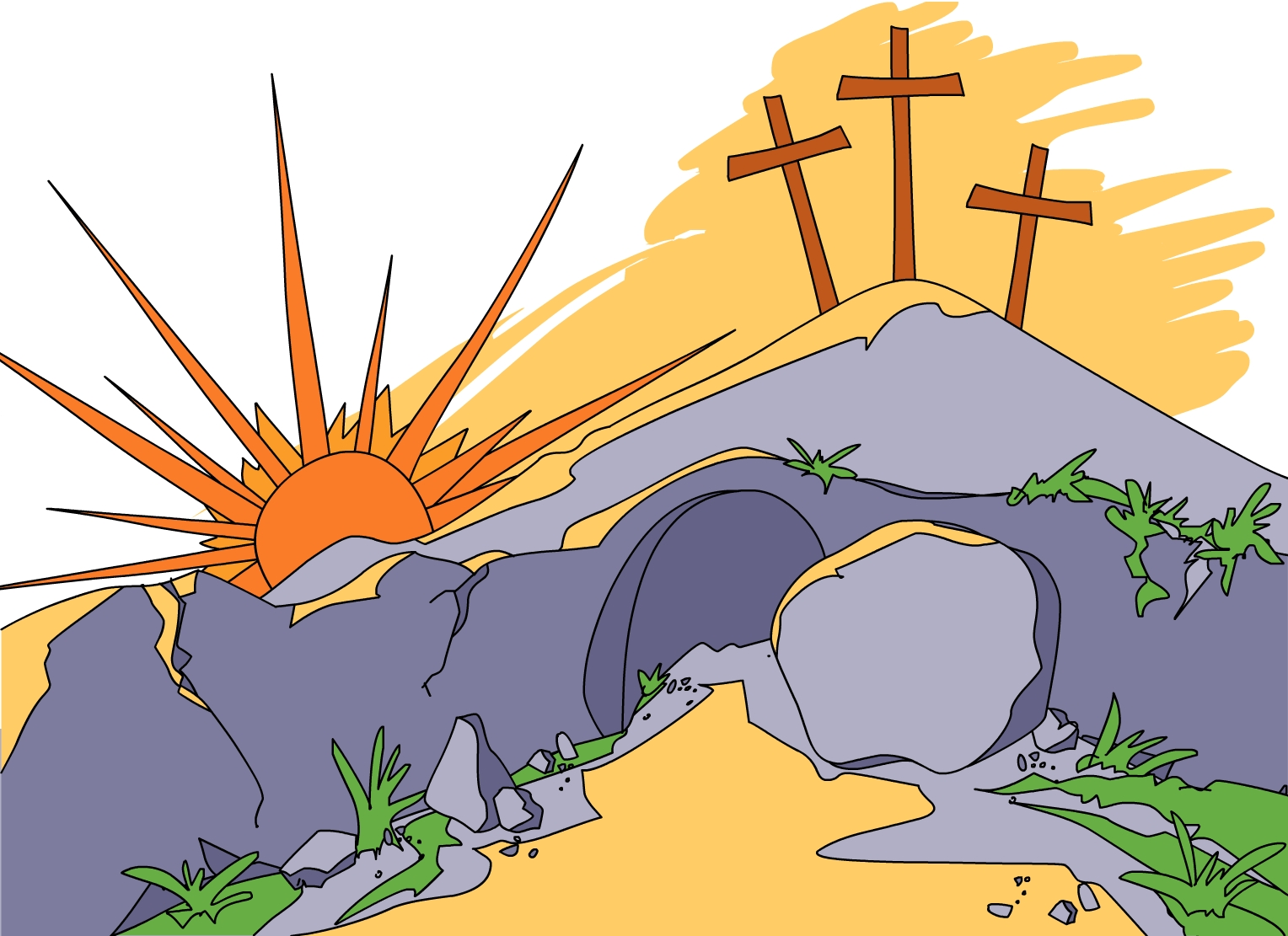 This is the Jesus is Risen story and activities lesson for.
