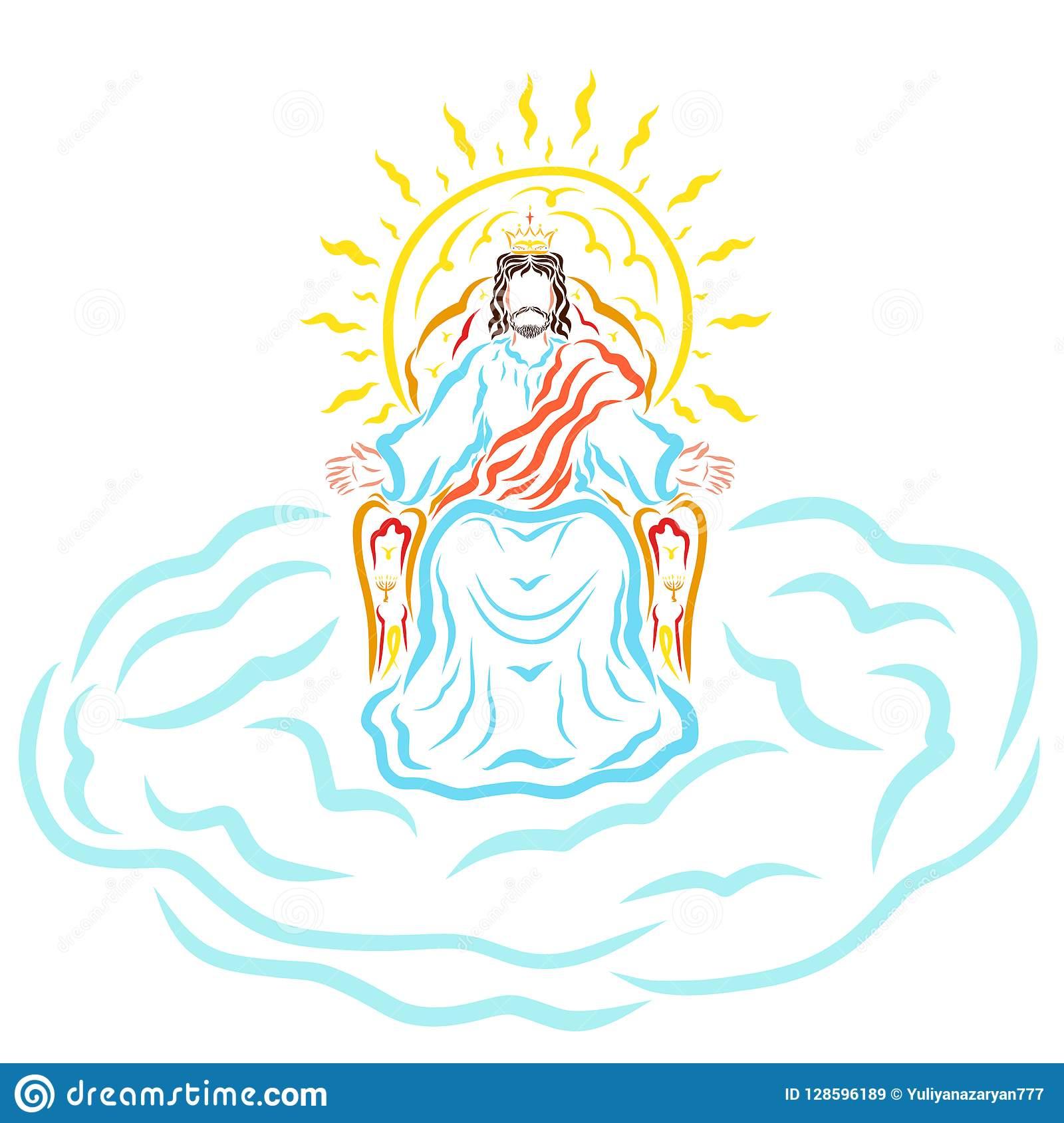Jesus Second Coming Stock Illustrations.