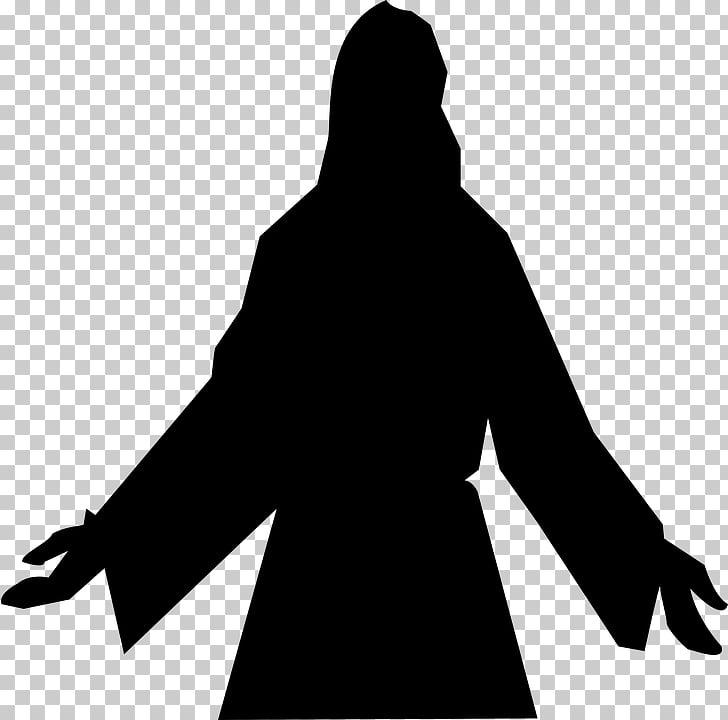 Depiction of Jesus Silhouette Child Jesus , Gospel PNG.