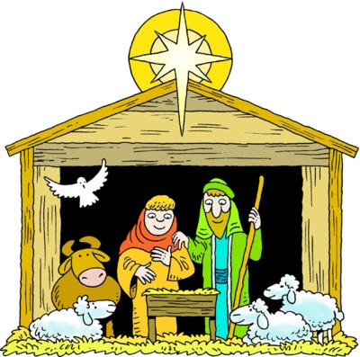 The Animals at the Manger.
