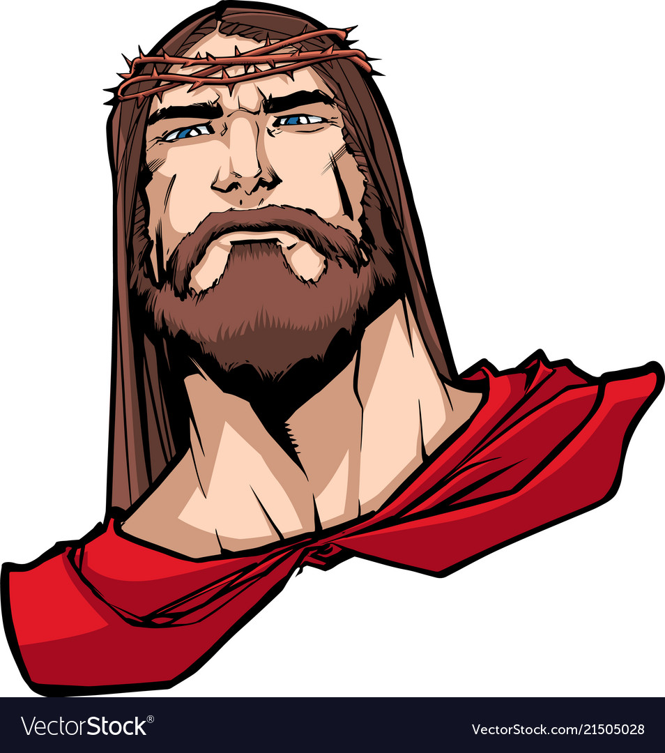 Jesus superhero portrait.