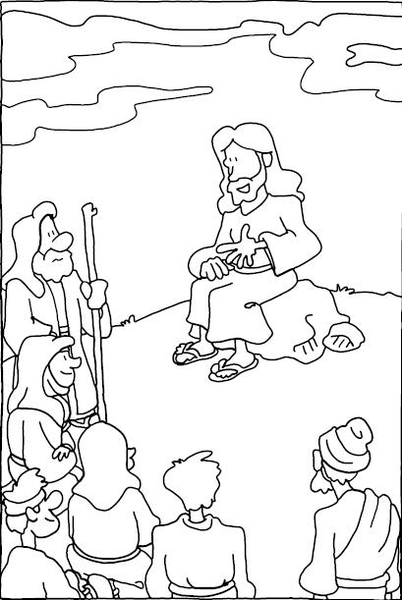 Jesus Teaching Clipart.