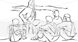 Jesus Sitting and Teaching.