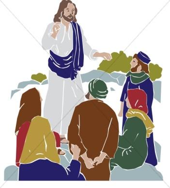 Clipart Of Jesus Teaching.