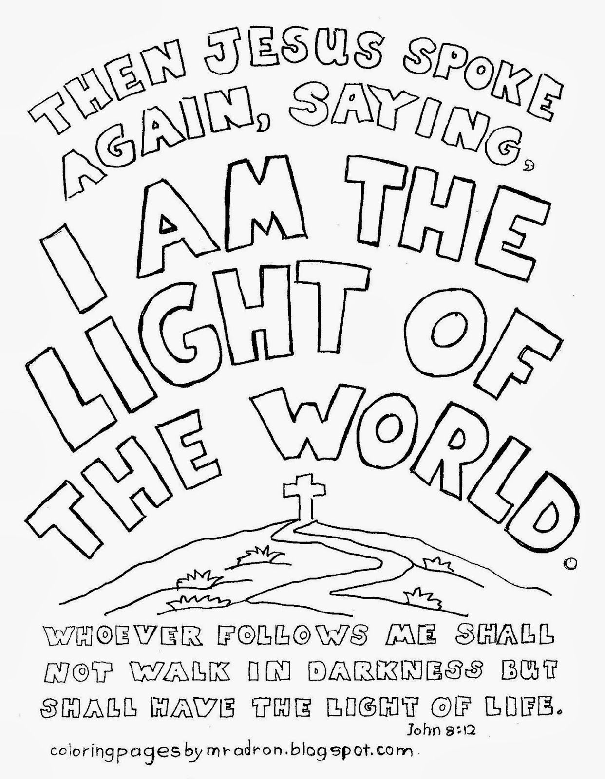 Coloring Pages For Kids By Mr. Adron: I Am #117167.