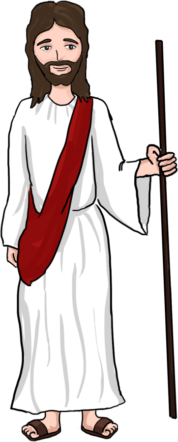 Jesus Shepherd Clipart Clipartxtras Jesus Christ Cartoon Png.