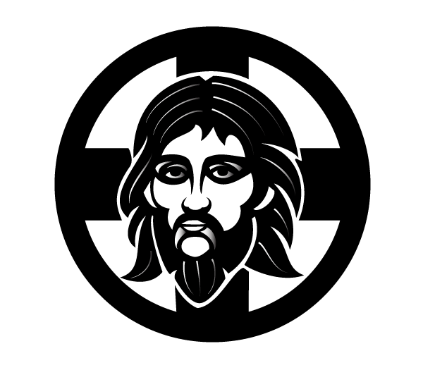 Orthodox Jesus Vector Image.