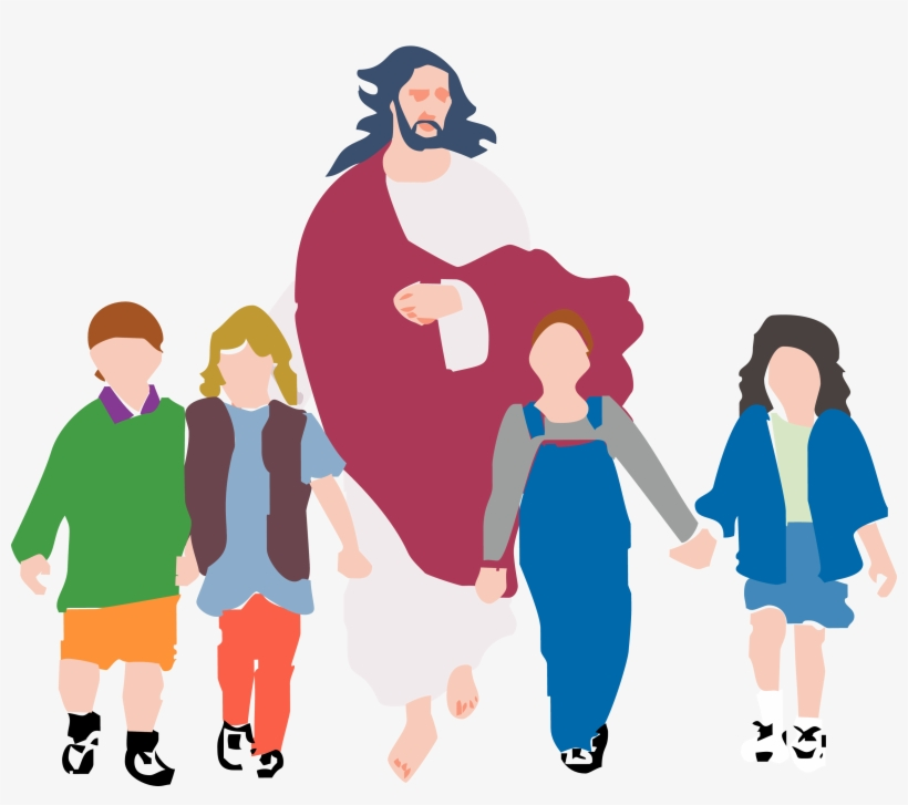 Walking With Jesus Clipart.