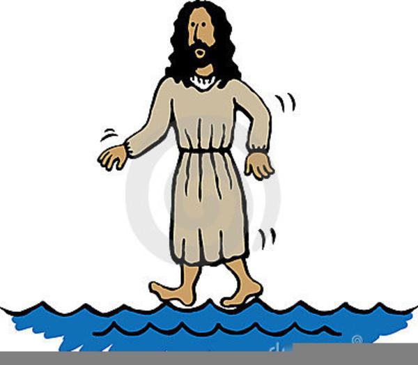 Free Clipart Of Jesus Walking On Water.