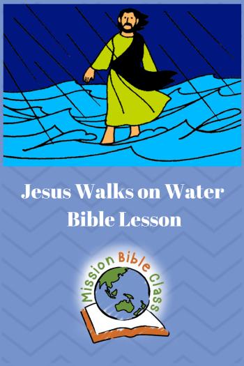 Jesus Walks on Water.
