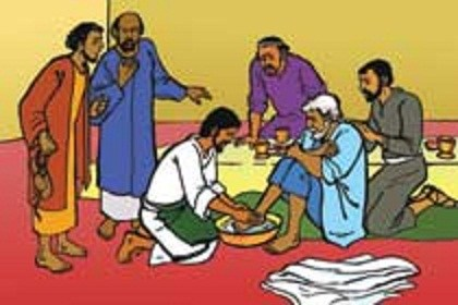 Jesus washing disciples feet clipart 2 » Clipart Portal.