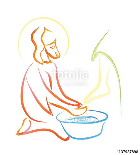 Washing of feet.