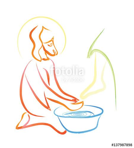 Washing of feet.