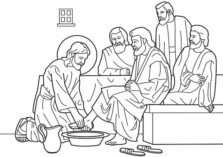 Jesus washing feet clipart 5 » Clipart Portal.