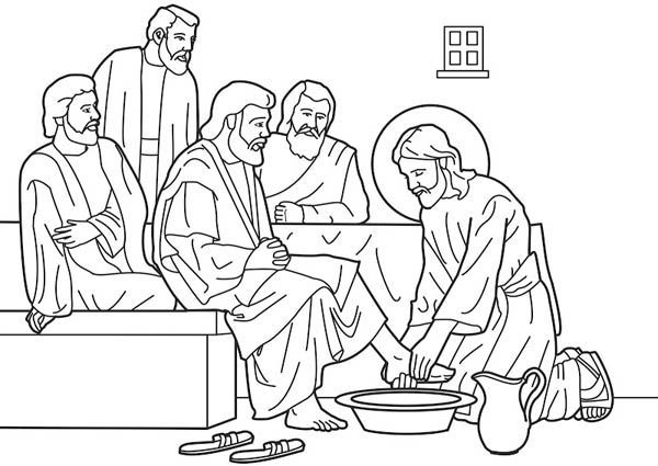 Jesus washing disciples feet clipart 3 » Clipart Portal.