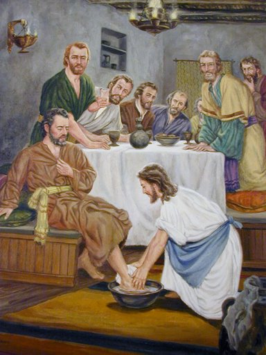 Jesus Washing Feet of Disciples Pictures.