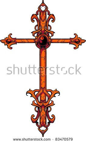 Cross Tattoo Stock Images, Royalty.