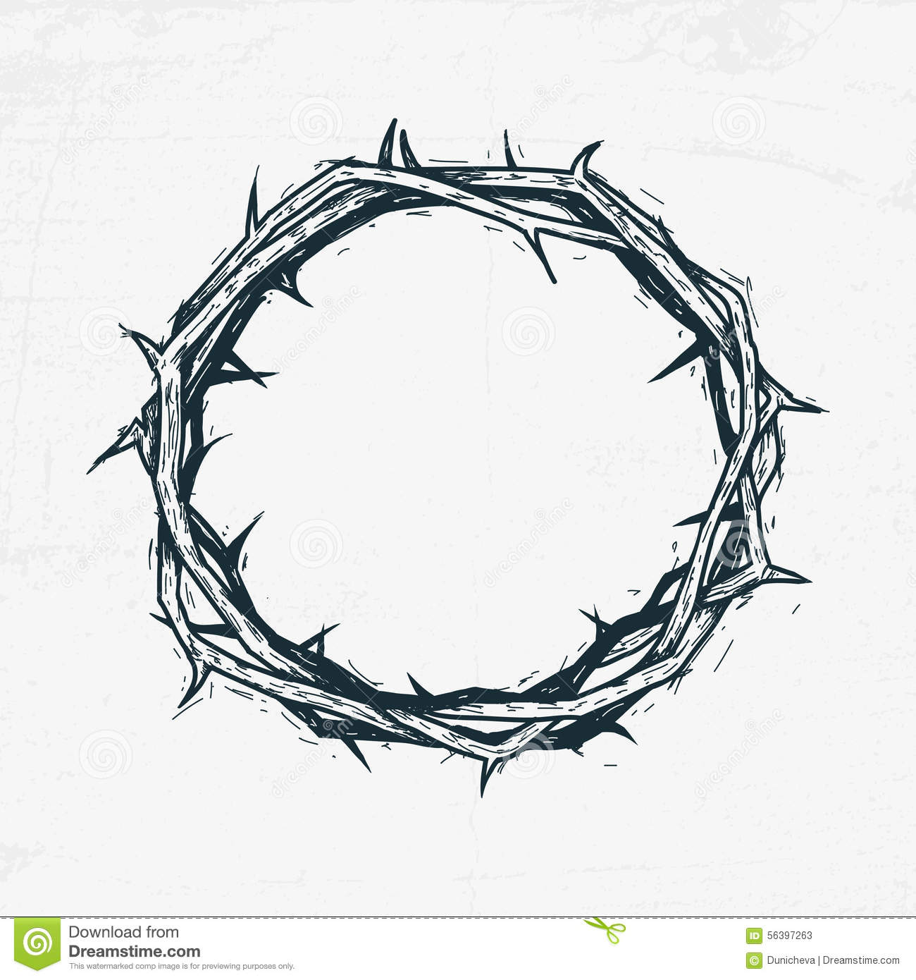 Jesus Crown Thorns Stock Illustrations.