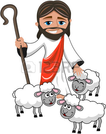 Jesus With Sheep Clipart