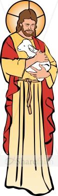 Jesus Holding a Lamb.