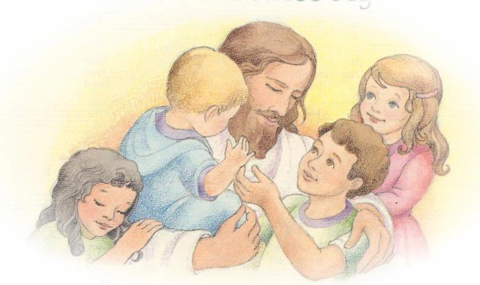 Jesus With The Children Clipart