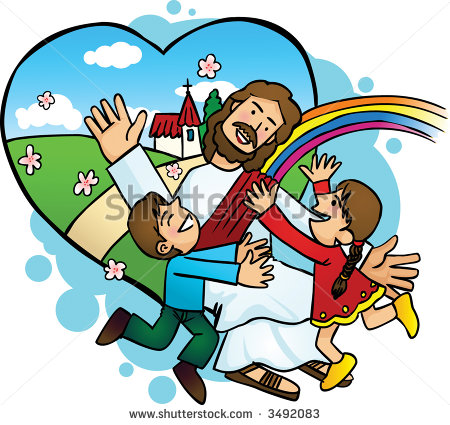 Jesus Kids Stock Images, Royalty.