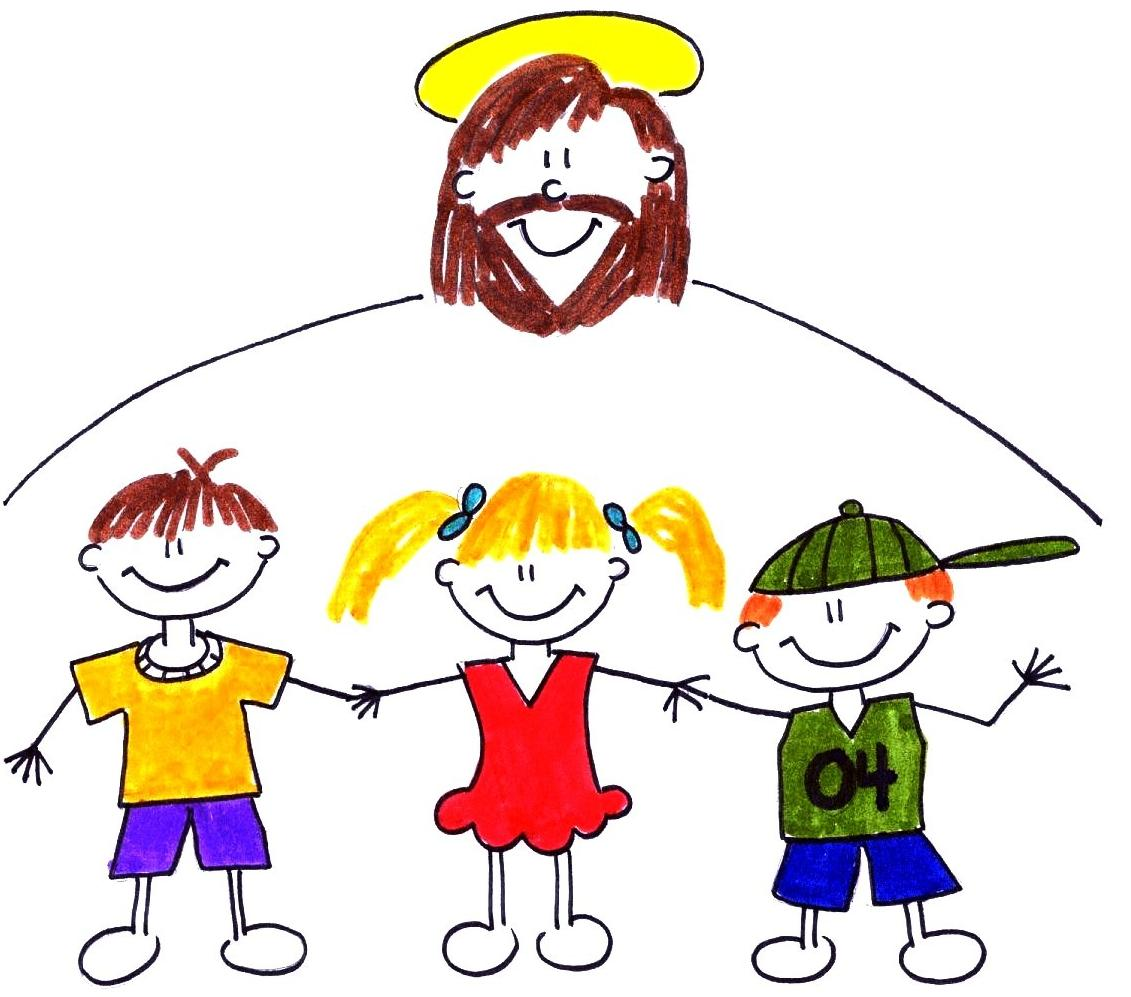 Jesus Playing With Children Clipart.