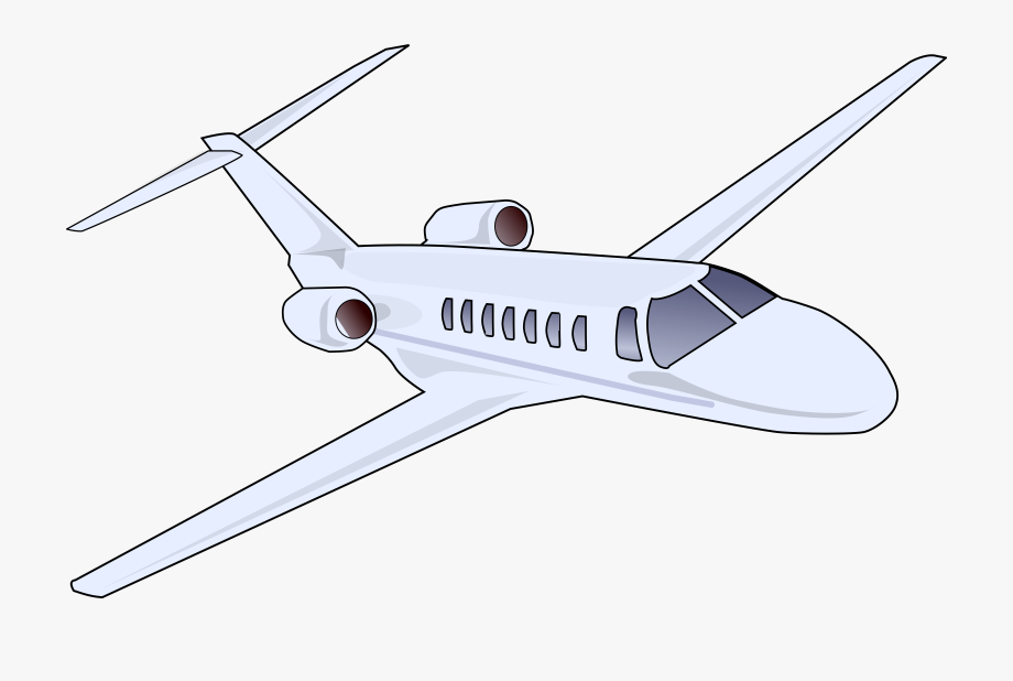 Jet Clipart Commercial Airplane.