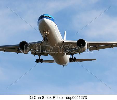 Stock Photos of Jet landing.