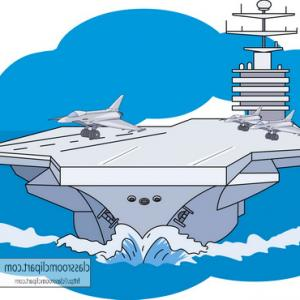 Top Jet Is Approaching To Aircraft Carrier Design.