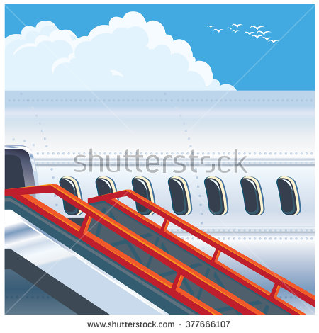 Plane Approaching Stock Vectors & Vector Clip Art.