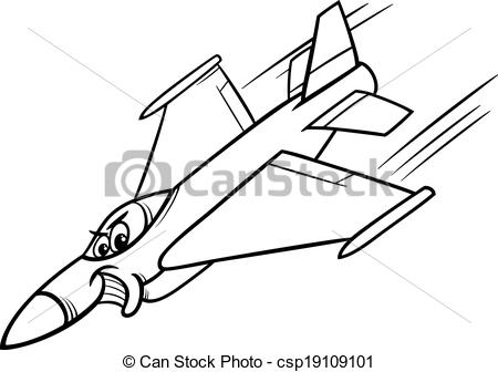 Clipart airforce plane with banner black and white.