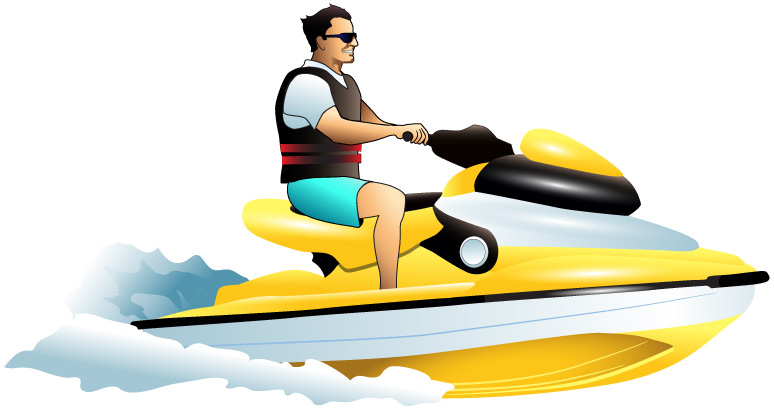 Jet Boat Clipart.