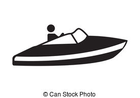 Clipart boat ski outline.