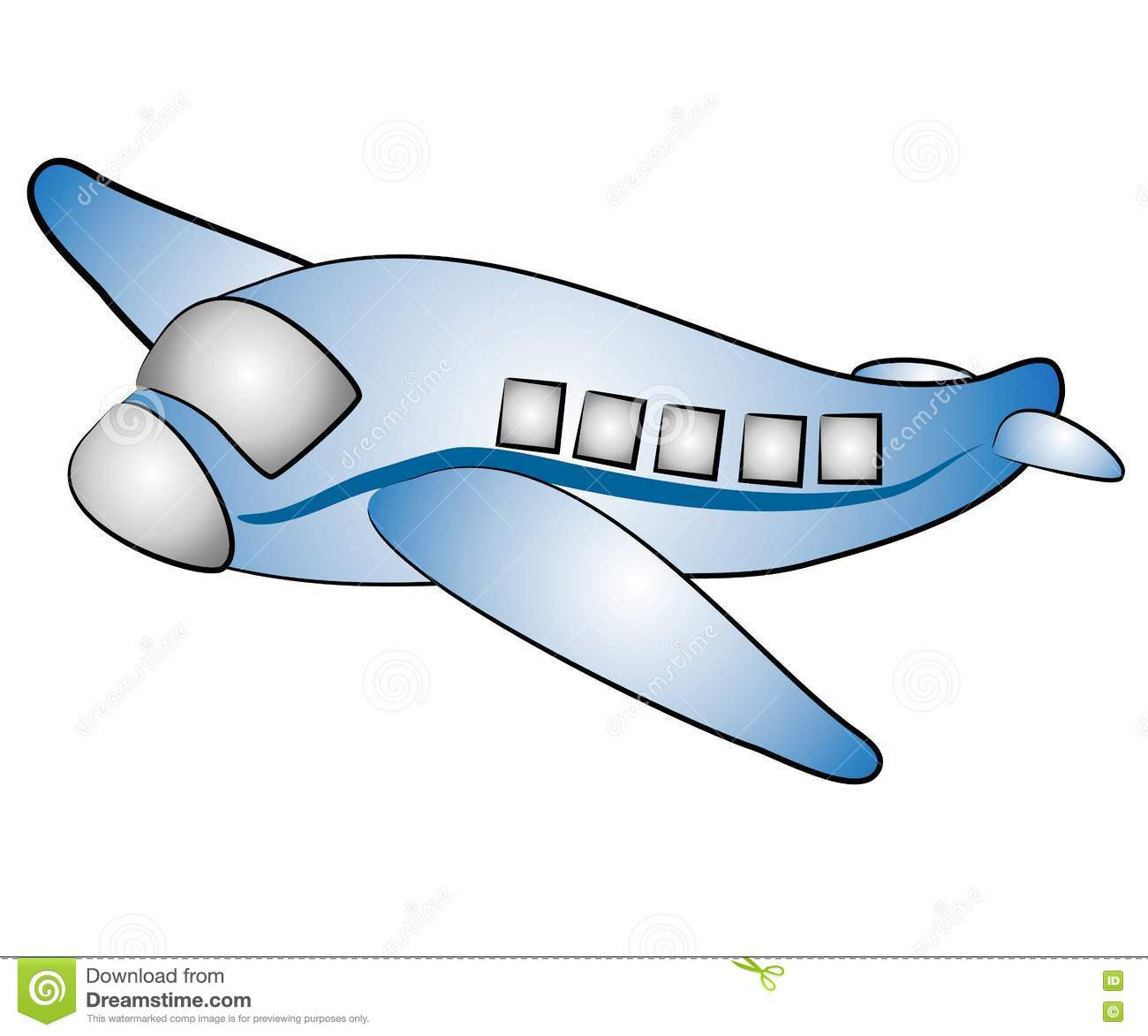 Isolated Airplane Jet Clip Art Picture. Image: 3131344.