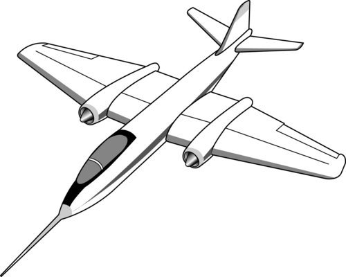 Free Black And White Jet, Download Free Clip Art, Free Clip Art on.