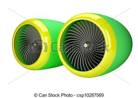 Stock Illustrations of Gas Turbine Jet Engine csp5427565.
