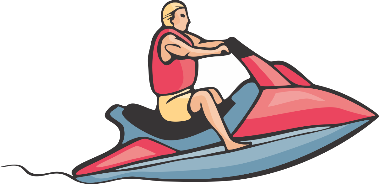 Nonsensical Jet Ski Clipart Personal Water Craft Sea.