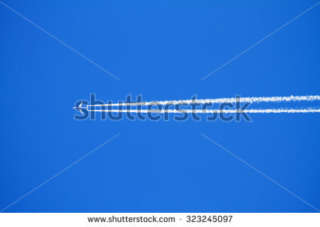 Airplane Contrails Stock Photos, Royalty.